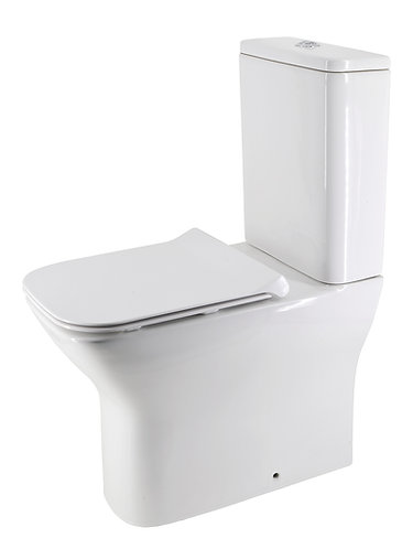 Brunetti Back-to-Wall Extra Height Rimless Toilet Suite with Slim Seat