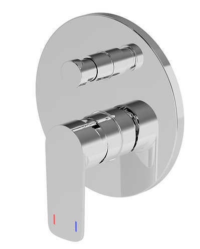 Nardini Wall Diverter Mixer Chrome