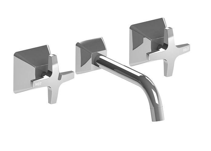 Gallina Bath Set Chrome Cross Handle