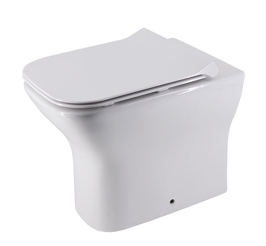 Brunetti Wall-Faced Extra Height Rimless Toilet Suite and Slim Seat