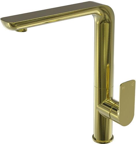 Bassini Sink Mixer Brushed Gold