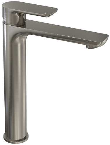 Bassini Tower Basin Mixer Brushed Chrome