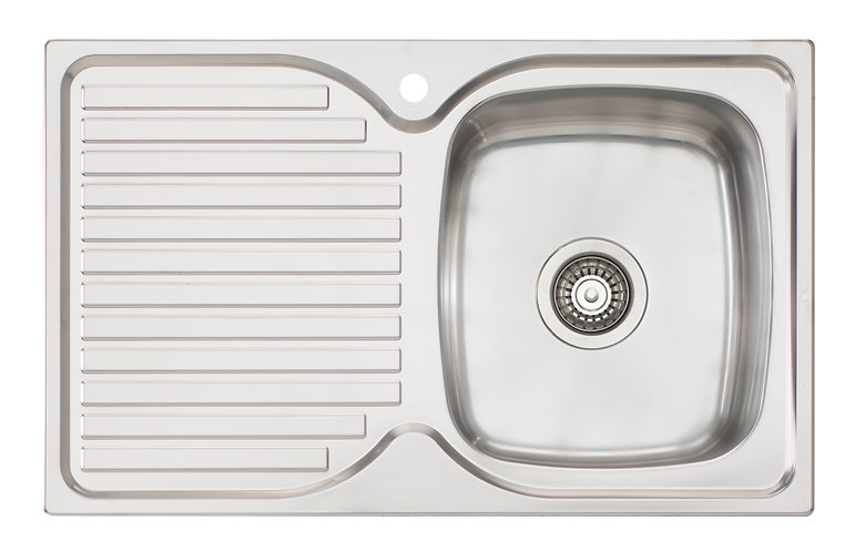 Bassini Sink Single Bowl With Drainer 1TH - Right HB