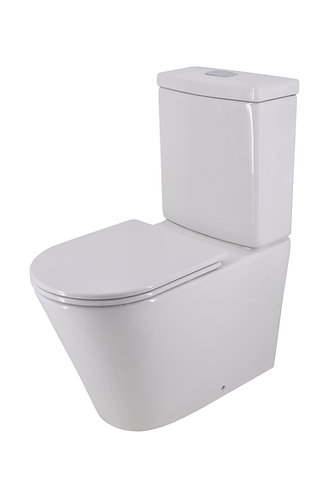 Bassini Back-to-Wall Toilet Suite Back-Entry with Slim Soft-Close Seat