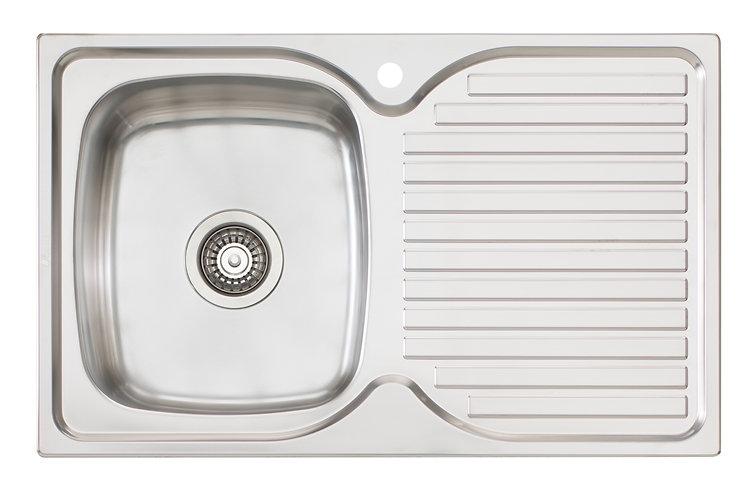 Bassini Sink Single Bowl With Drainer 1TH - Left HB