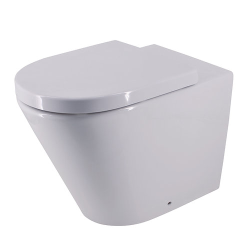 Bassini Wall-Hung Toilet Suite with Standard Soft Close Seat