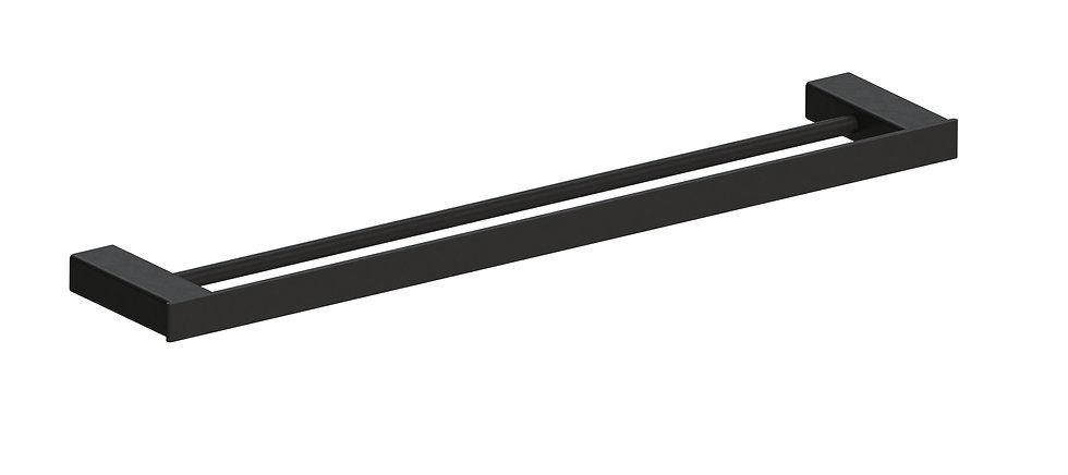 Rondo Towel Rail Double 800mm Black