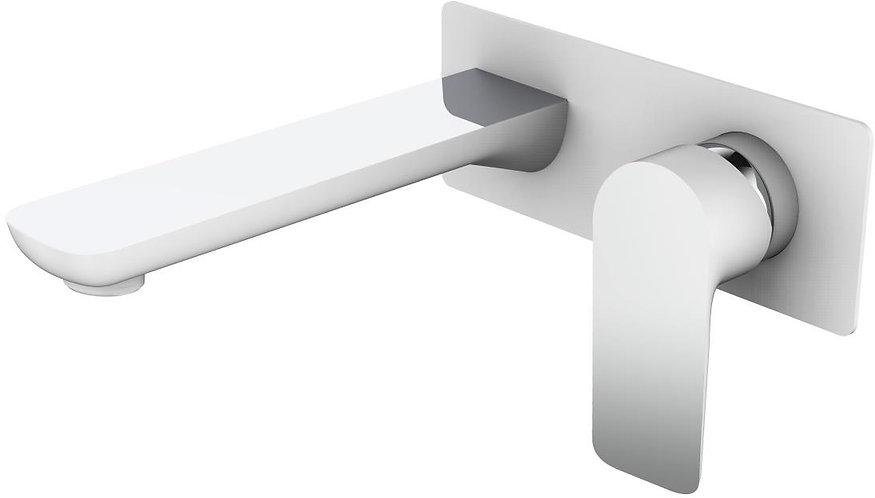Bassini Wall Basin Mixer White / Chrome