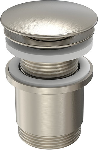 40mm Pop Up Plug & Waste with Overflow Brushed Chrome