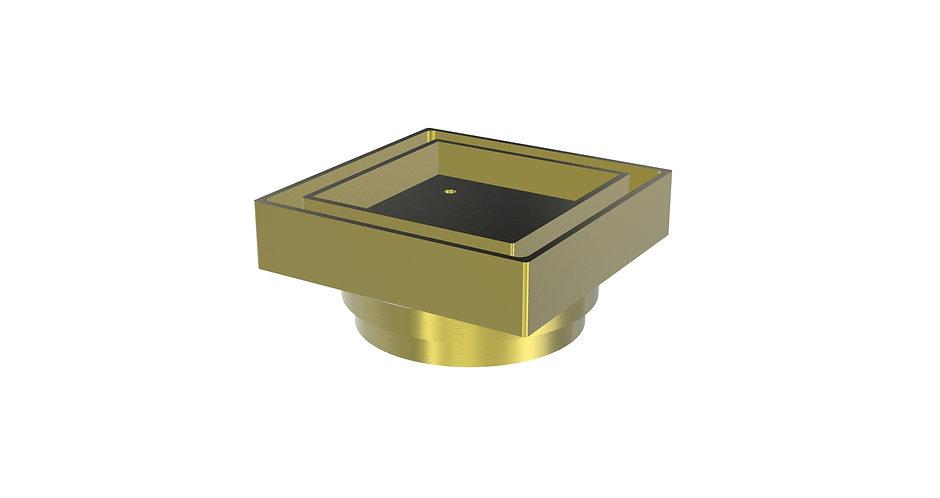100mm Tile Insert Waste Brushed Gold