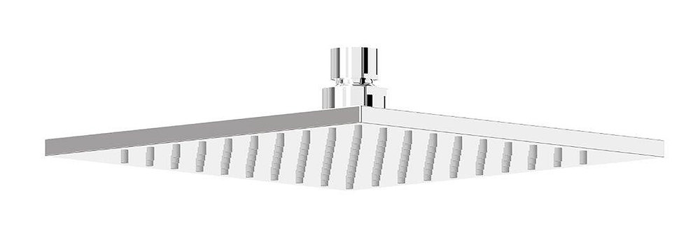 Rondo ABS Square Shower Head 200mm Chrome