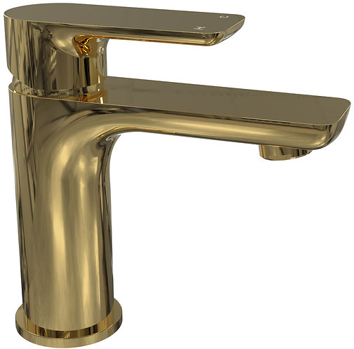 Bassini Basin Mixer Brass