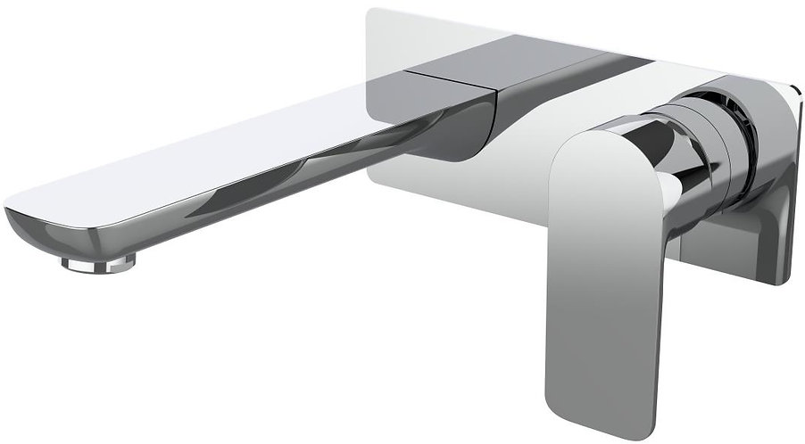 Bassini Wall Basin Mixer Chrome