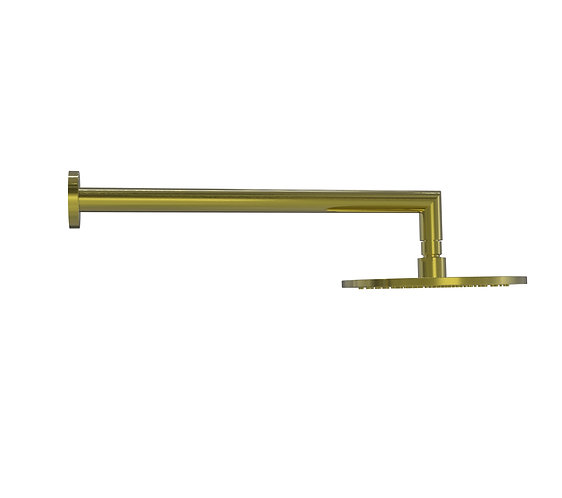 Bassini Overhead Shower Set Brushed Gold (Brass Head)