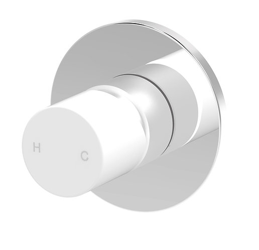 Handel Wall Mixer Chrome with White