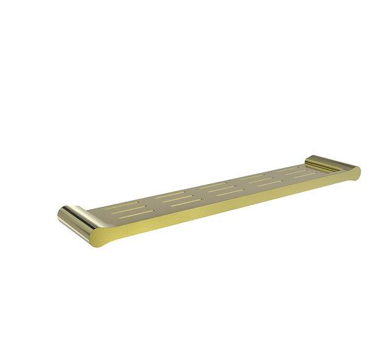 Bassini Metal Shelf Brushed Gold