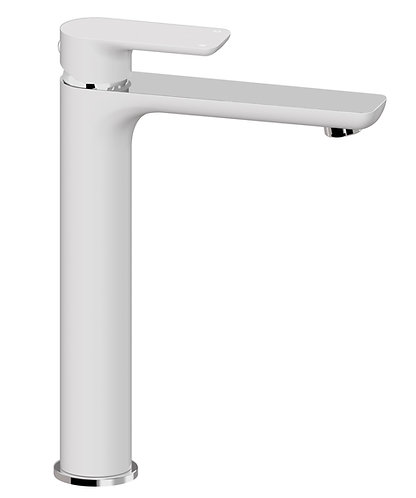 Bassini Tower Basin Mixer White/Chrome