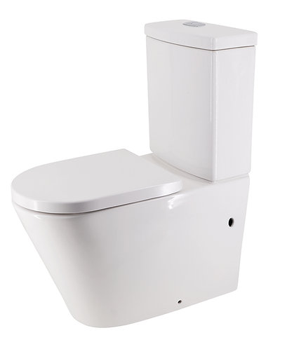 Bassini Back-to-Wall Toilet Suite Bottom-Entry with Standard Soft-Close Seat