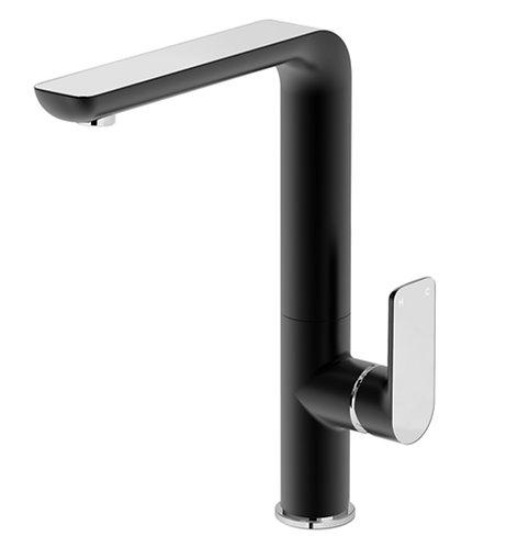 Bassini Sink Mixer Black/Chrome