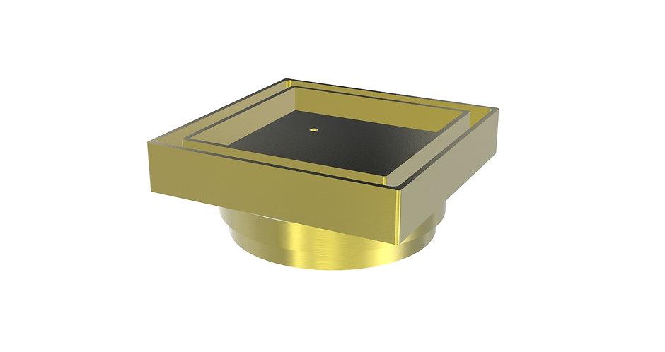 80mm Tile Insert Waste Brushed Gold