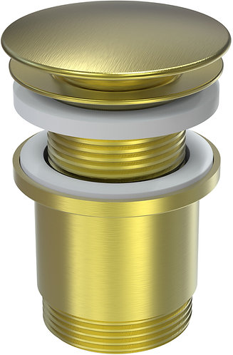 40mm Pop Up Plug & Waste with Overflow Brushed Gold