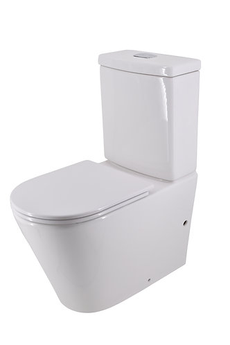 Bassini Back-to-Wall Toilet Suite Bottom-Entry with Slim Soft-Close Seat