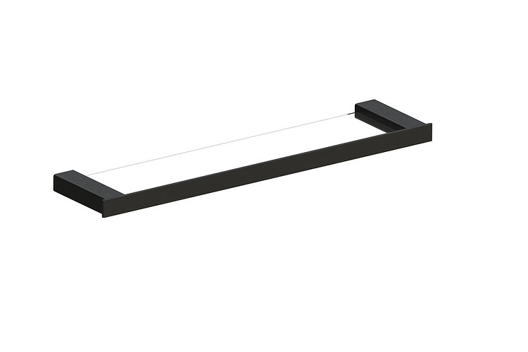 Rondo Glass Shelf Black