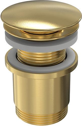 40mm Pop Up Plug & Waste with Overflow Brass