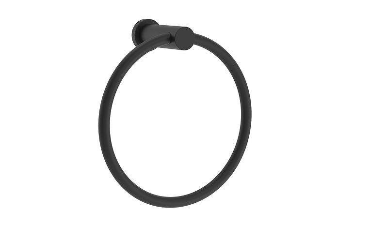 Handel Towel Ring Black