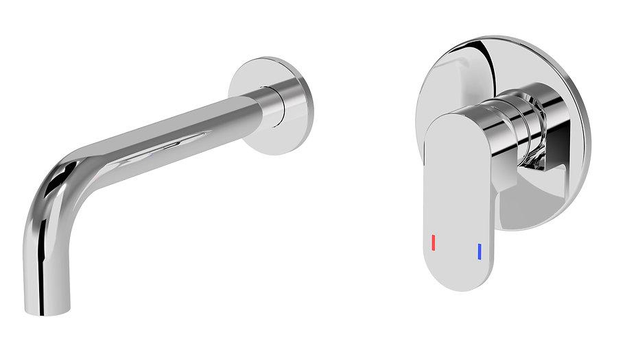 Lento Basin Mixer w/Spout Chrome