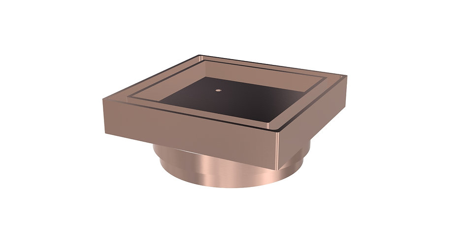 80mm Tile Insert Waste Brushed Rose Gold