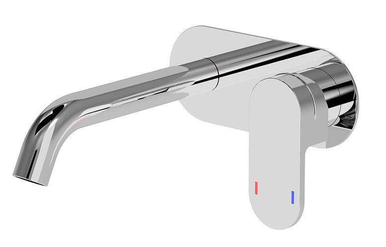 Lento Wall Basin Mixer Chrome