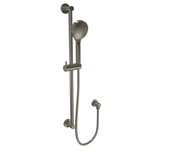 Senza Multi Function Shower with Rail Brushed Chrome