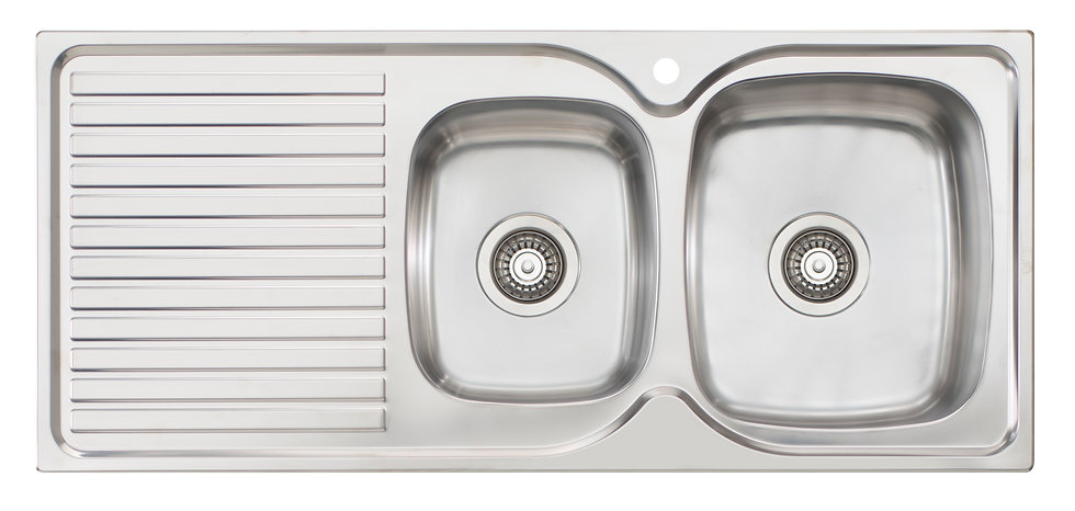 Bassini Sink 1 & 3/4 Bowl With Drainer 1TH Right HB