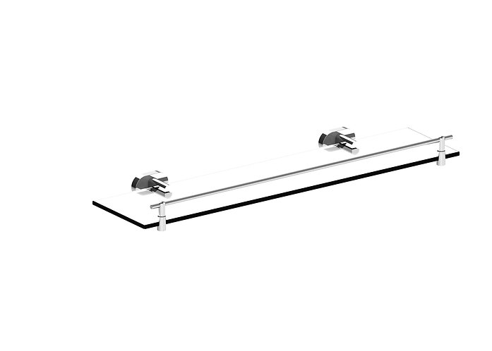 Lento Glass Shelf Chrome