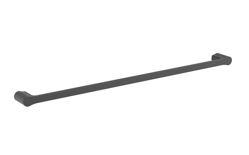 Bassini 750mm Single Towel Rail Matt Black