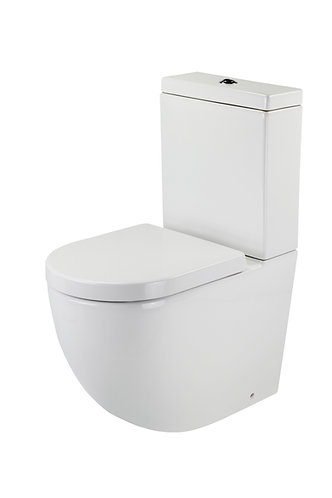 Lento Rimless Back-to-Wall Toilet Suite Back-Entry with Standard Soft Close Seat