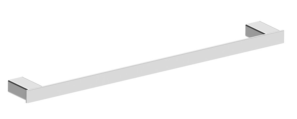 Rondo Towel Rail Single 600mm Chrome