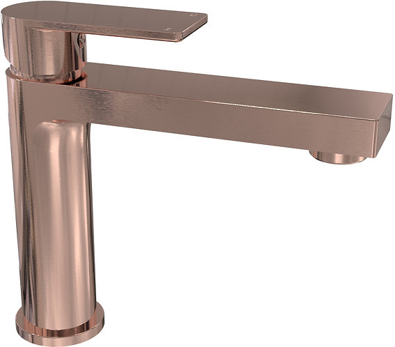 Brunetti Basin Mixer Brushed Rose Gold
