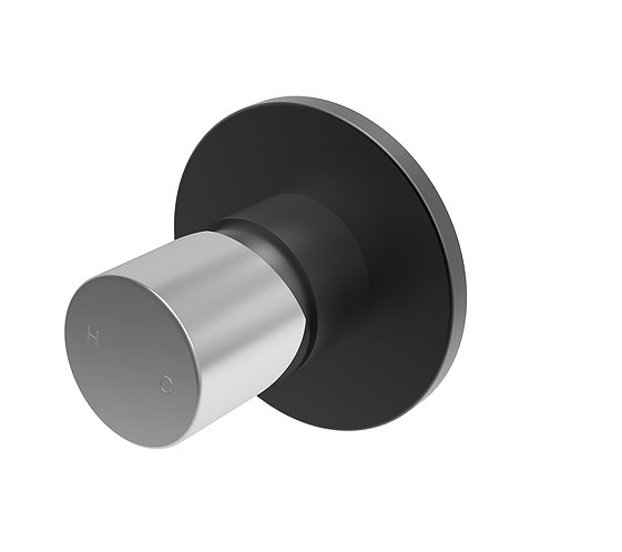 Handel Wall Mixer Black with Chrome