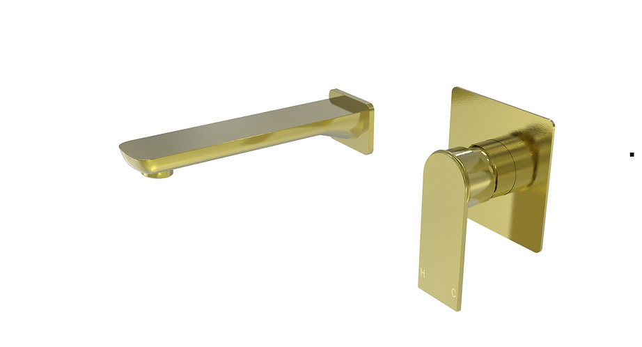 Brunetti Basin Mixer with Spout Brushed Gold