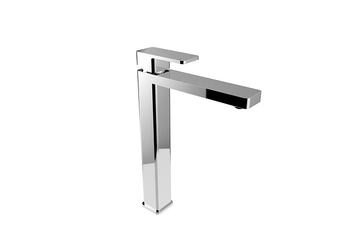 Rondo Solid Extended Basin Mixer Chrome