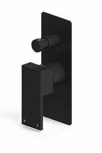 Alto Wall Diverter Mixer Black