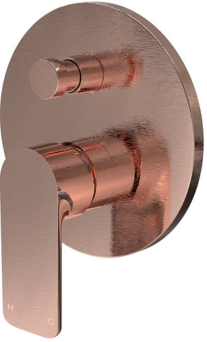 Bassini Wall Diverter Mixer Brushed Rose Gold