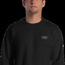unisex-crew-neck-sweatshirt-black-zoomed