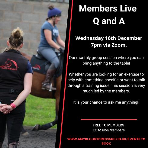 Members Live Q and A - Dec
