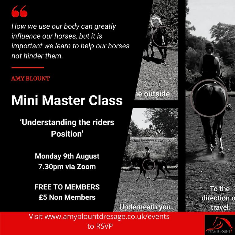 Mini Masterclass - Understanding your position