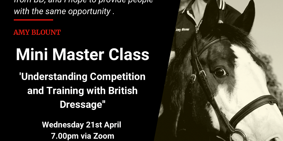 Mini Masterclass - Understanding Competition and Training with British Dressage.