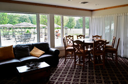 lounge overlooking the patio