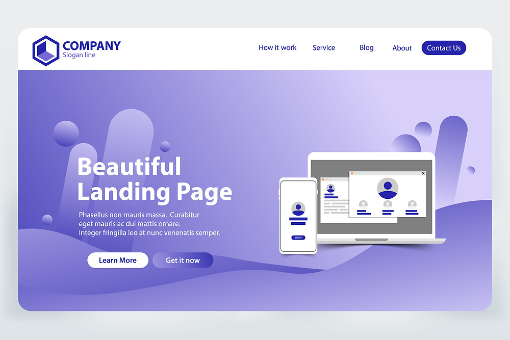 Example Landing Page from Wordpress